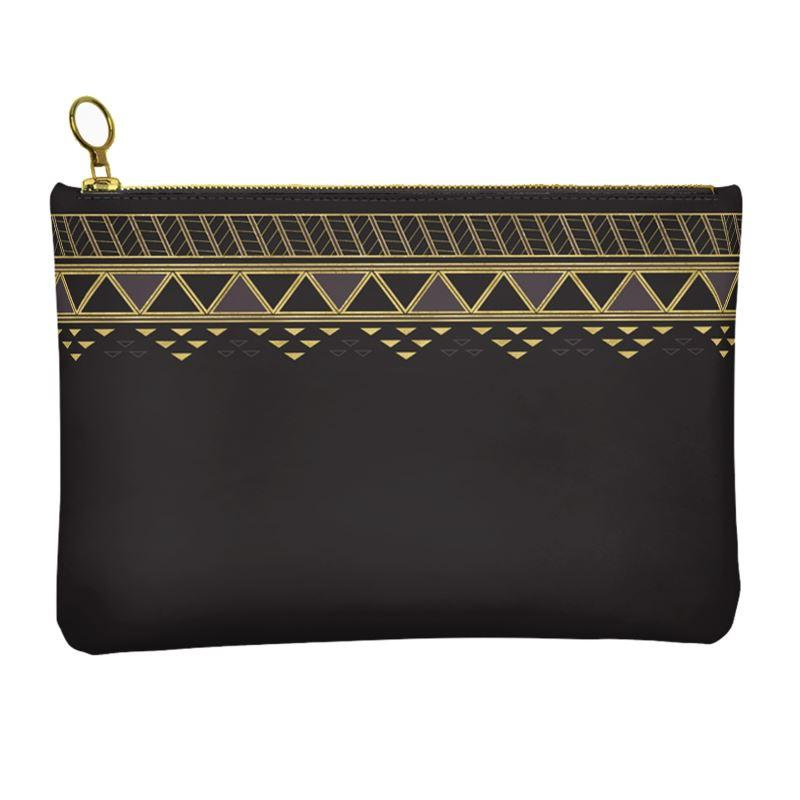 Castlefield Design Panther Geometric Leather Clutch