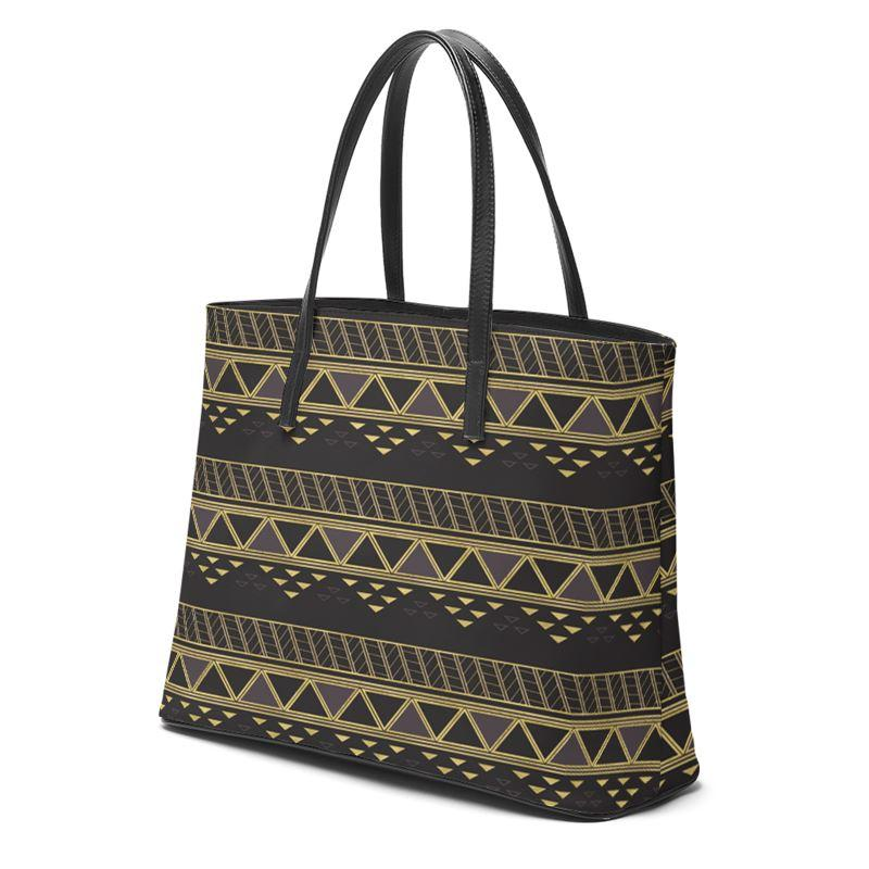 Castlefield Design Panther Geometric Leather Tote