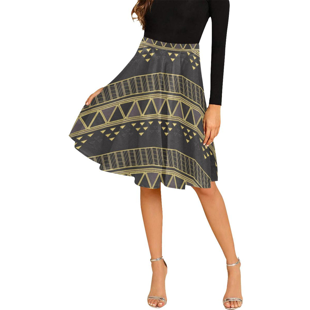 Castlefield Design Panther Geometric Midi Skirt