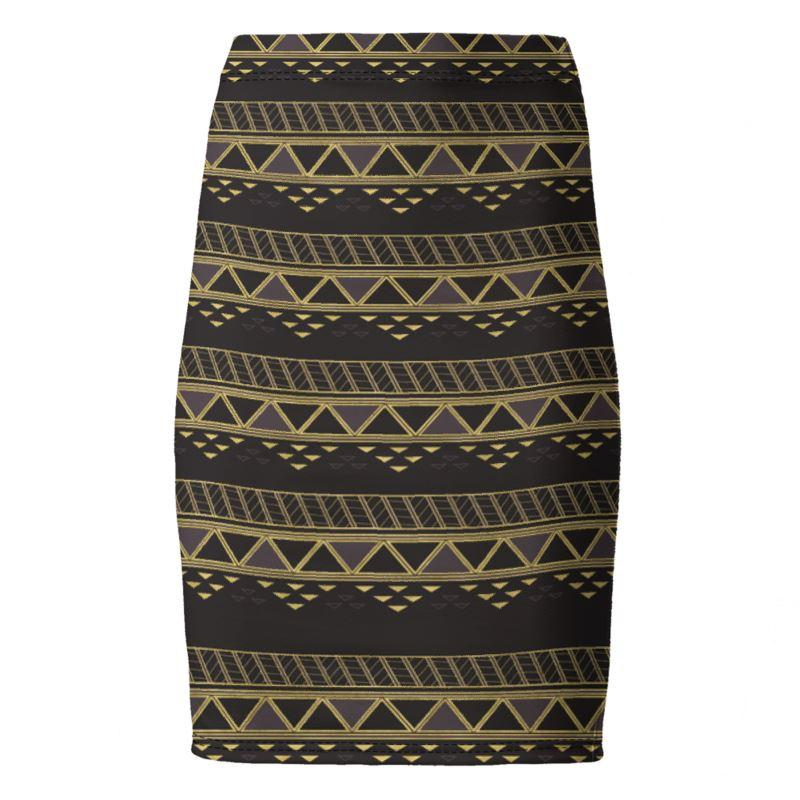 Castlefield Design Panther Geometric Pencil Skirt