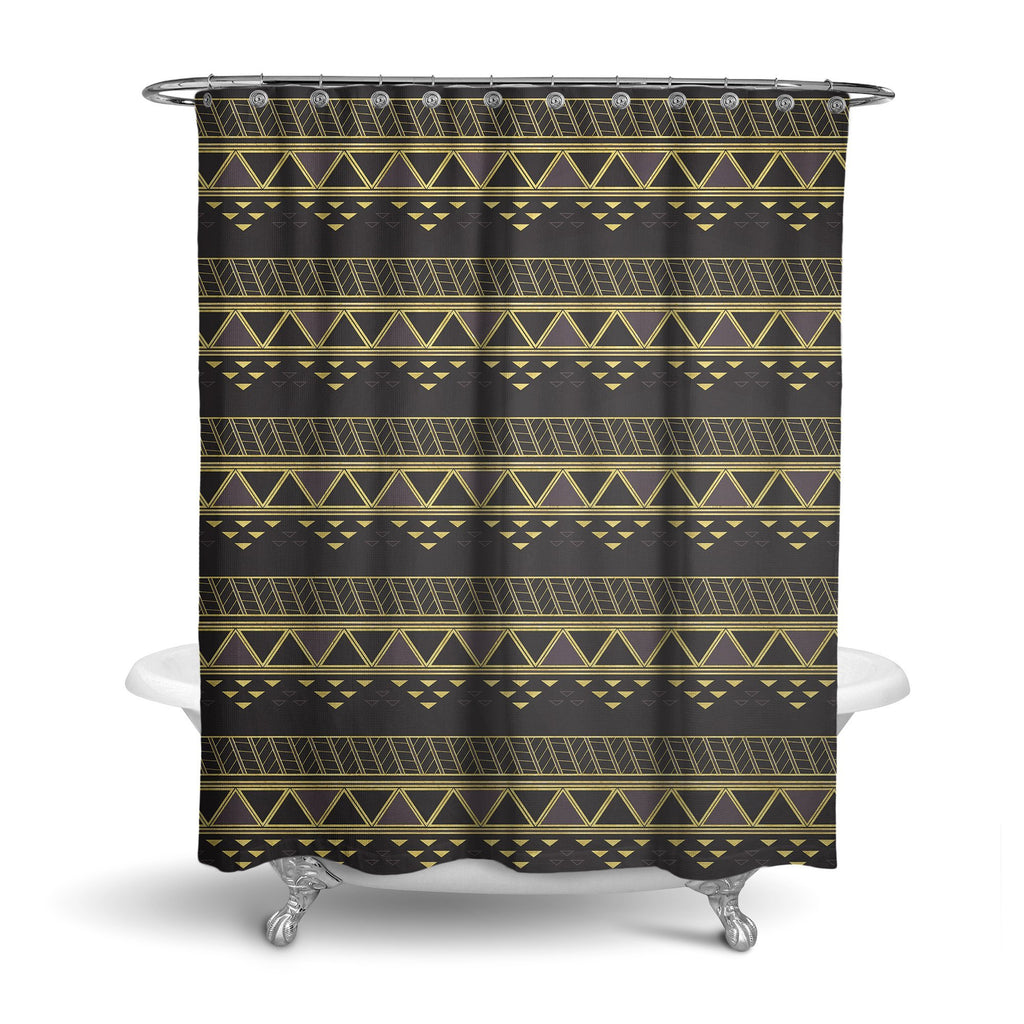 Castlefield Design Panther Geometric Shower Curtain