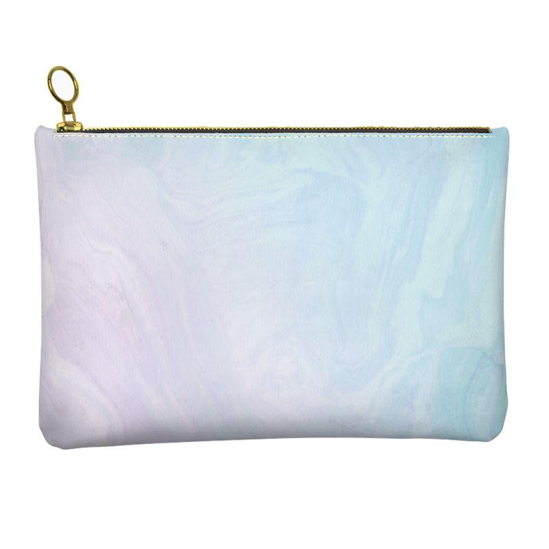 Castlefield Design Pastel Ombré Marble Leather Clutch