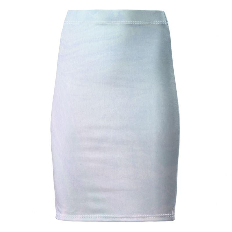 Castlefield Design Pastel Ombré Marble Pencil Skirf