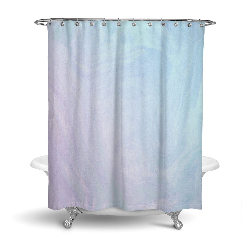 Castlefield Design Pastel Ombré Marble Shower Curtain