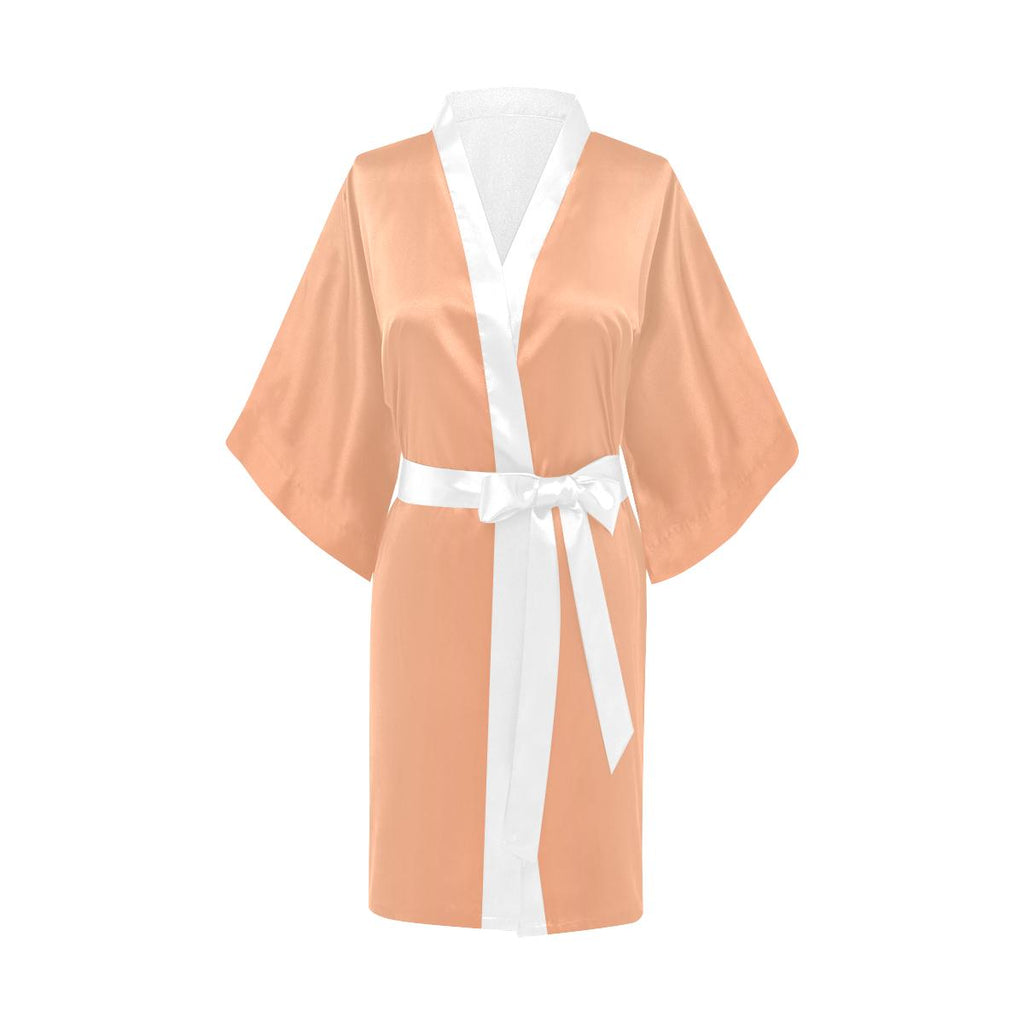 Castlefield Design Peach Creamsicle Satin Robe