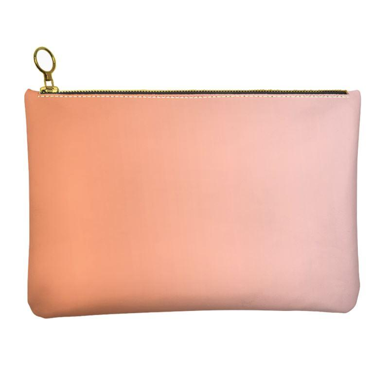 Castlefield Design Peach Pink Leather Clutch