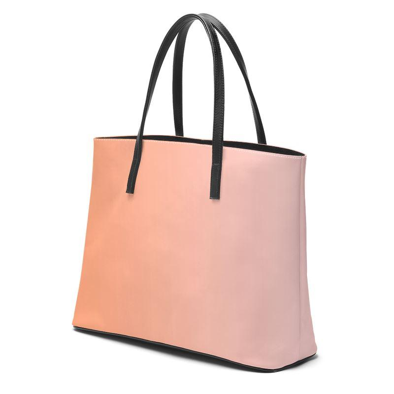 Castlefield Design Peach Pink Leather Tote