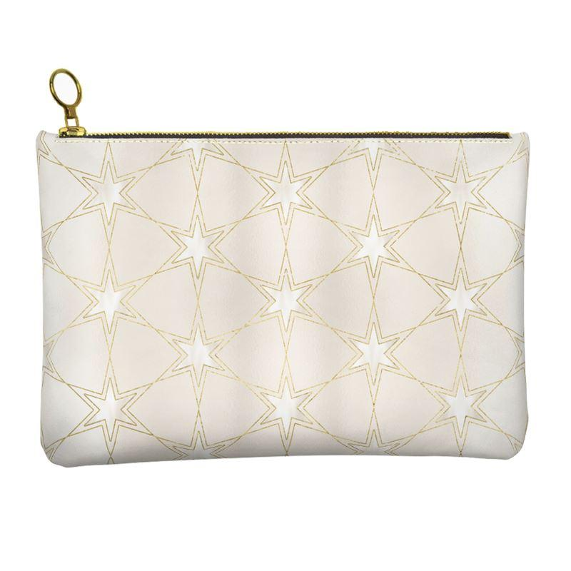 Castlefield Design Pearl Stars Leather Clutch