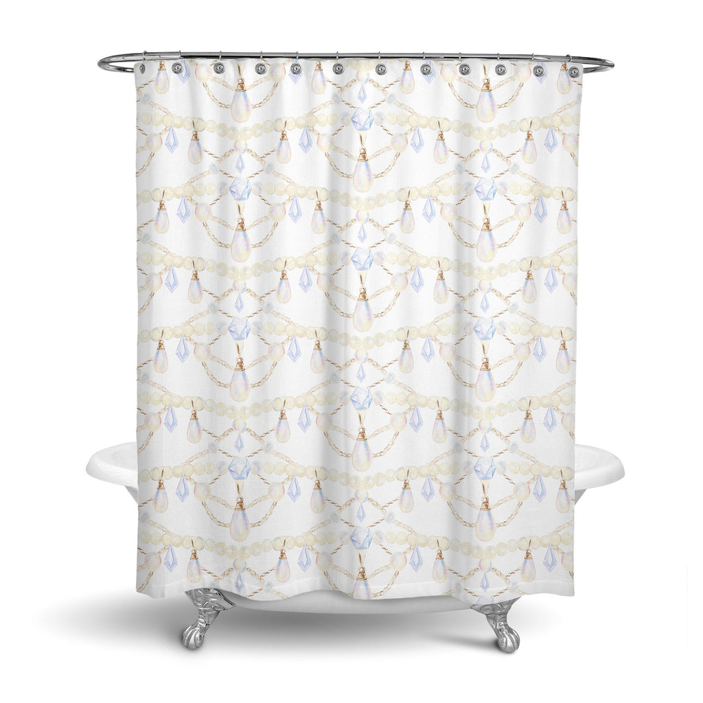 Castlefield Design Pearls & Chains Shower Curtain
