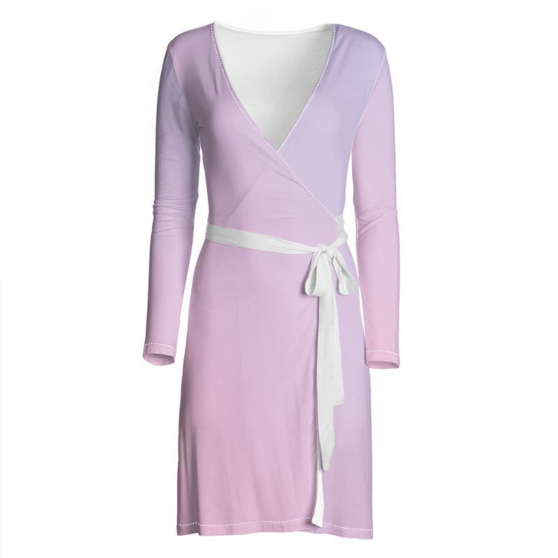 Castlefield Design Pink Lavender Wrap Dress