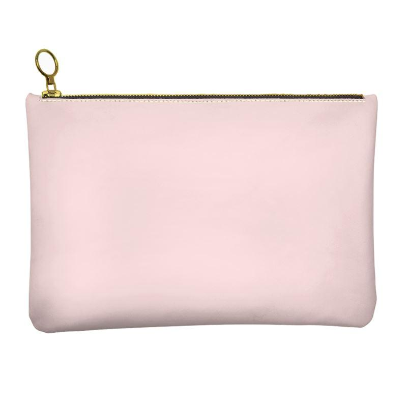 Castlefield Design Pink Leather Clutch