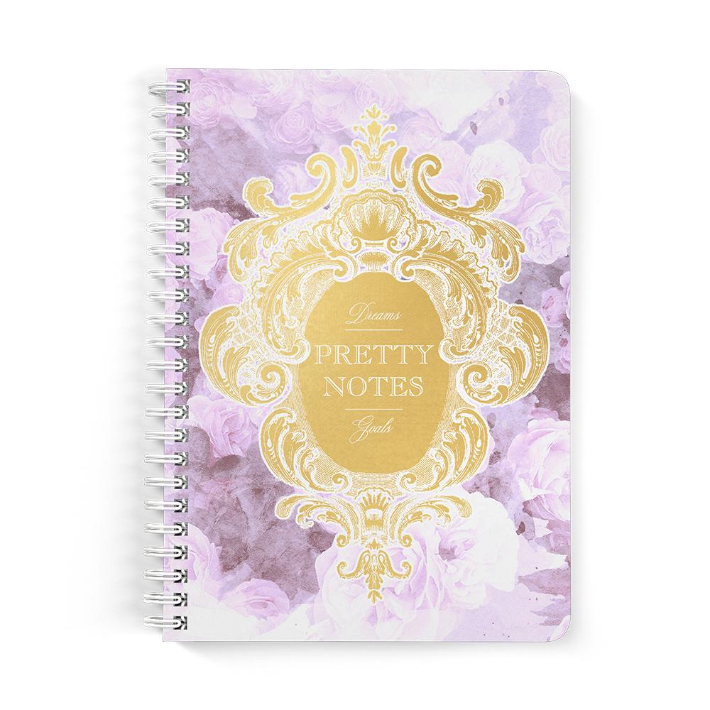 Castlefield Design Pretty Notes Lilac Floral Notebooks