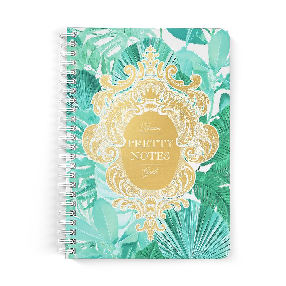 Castlefield Design Pretty Notes Tropical Leaf Notebooks