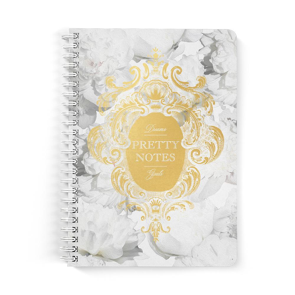 Castlefield Design Pretty Notes White Peonies Notebooks