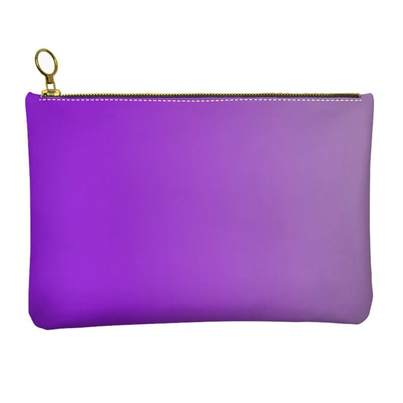 Castlefield Design Purple Leather Clutch