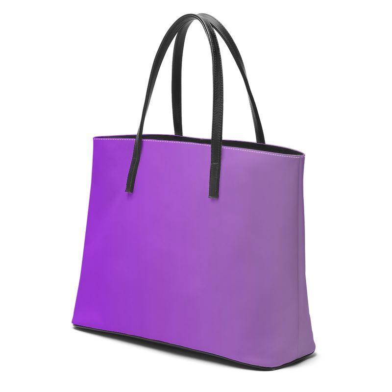 Castlefield Design Purple Leather Tote