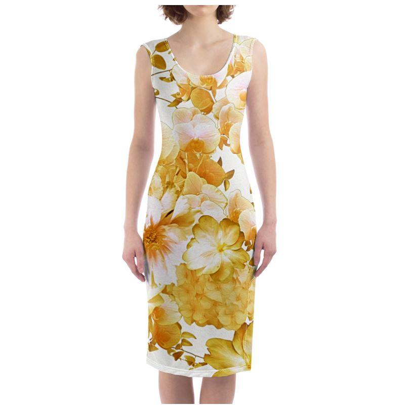 Castlefield Design Romantic Floral Bodycon Dress