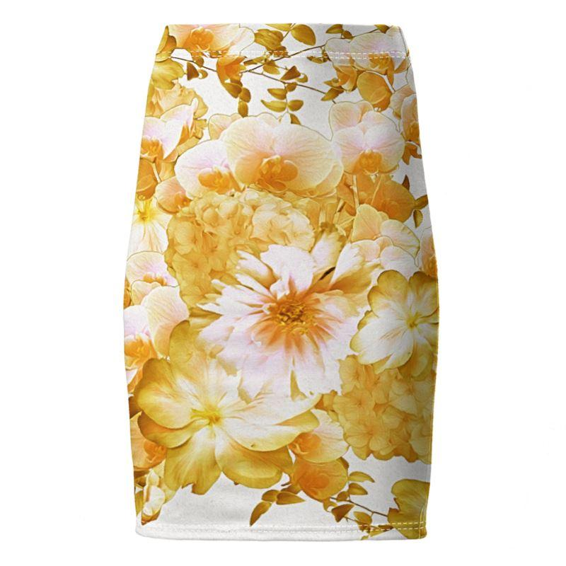 Castlefield Design Romantic Floral Pencil Skirt