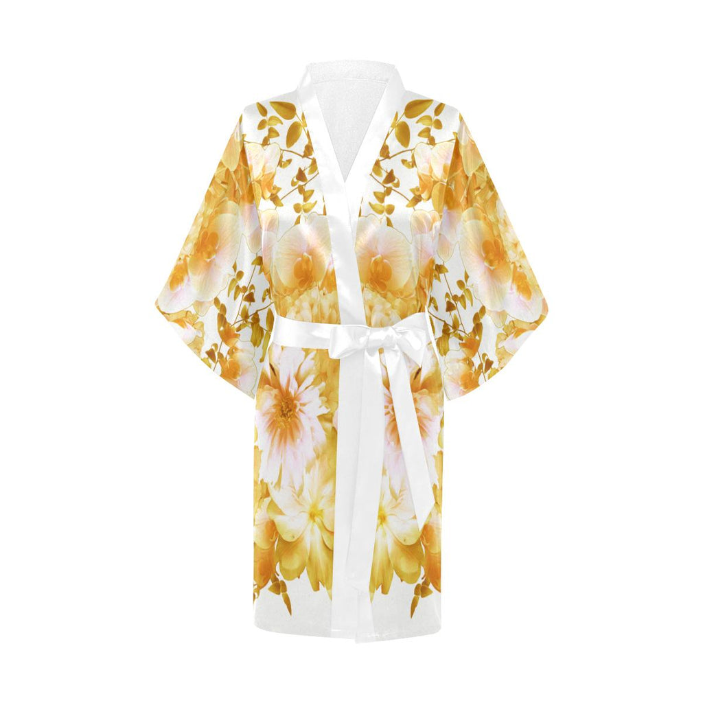 Castlefield Design Romantic Floral Satin Robe