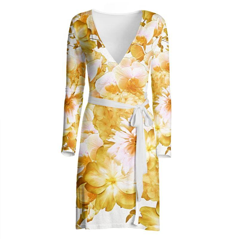 Castlefield Design Romantic Floral Wrap Dress