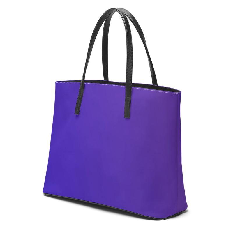 Castlefield Design Royal Blue Leather Tote