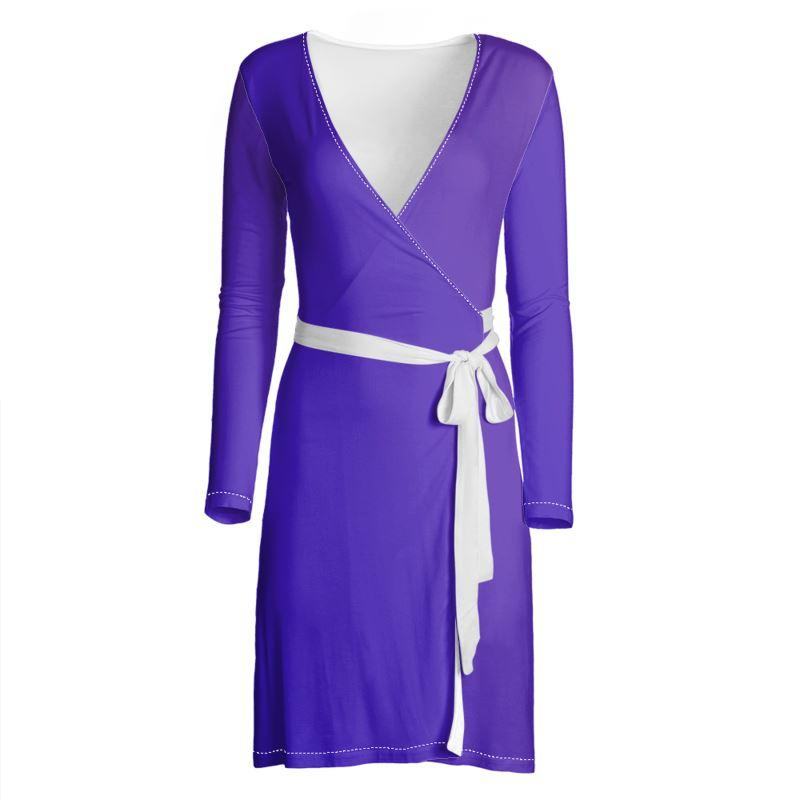 Castlefield Design Royal Blue Wrap Dress