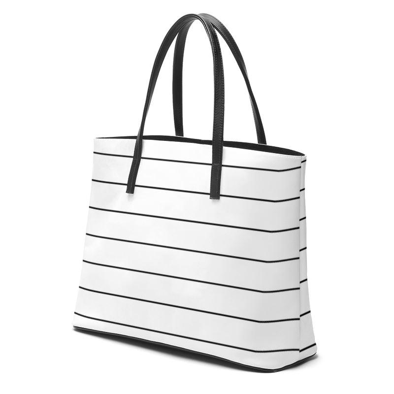 Castlefield Design Simple Stripes Leather Tote