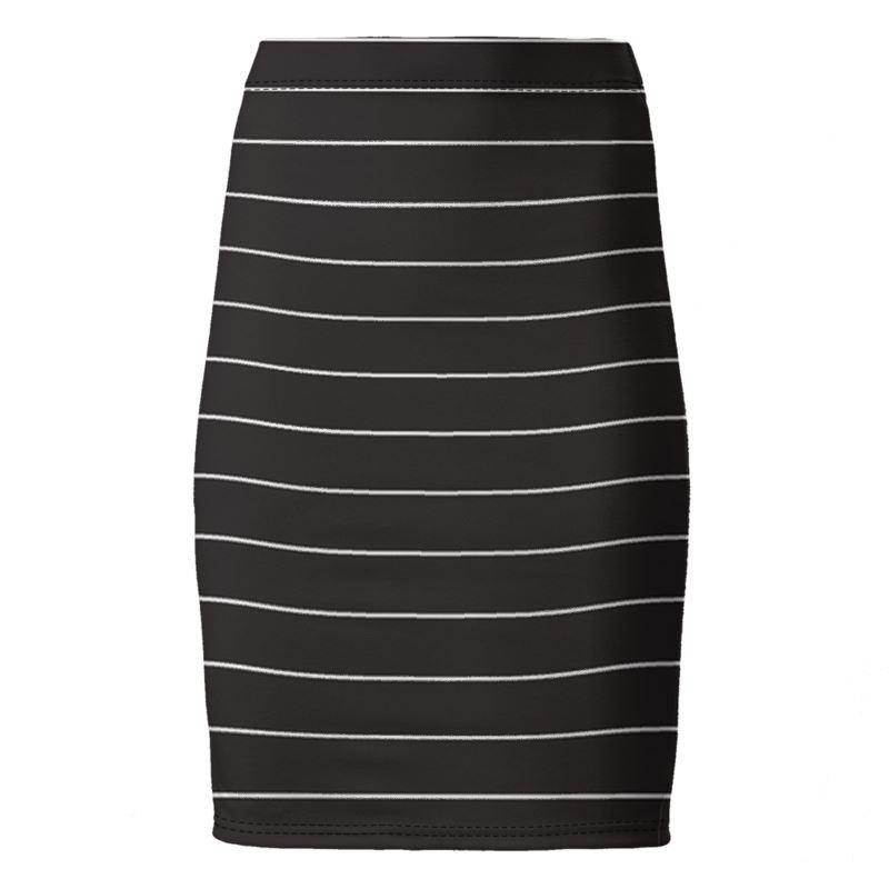 Castlefield Design Simple Stripes Pencil Skirt