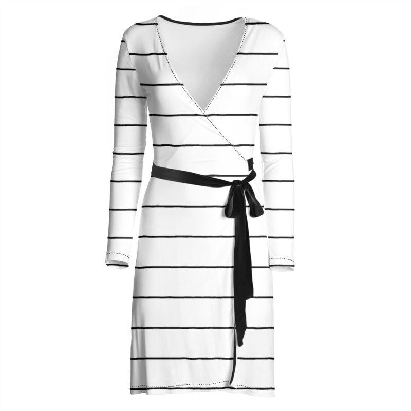 Castlefield Design Simple Stripes Wrap Dress