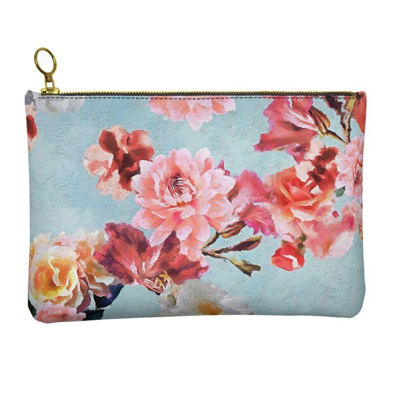 Castlefield Design Sunny Floral Leather Clutch