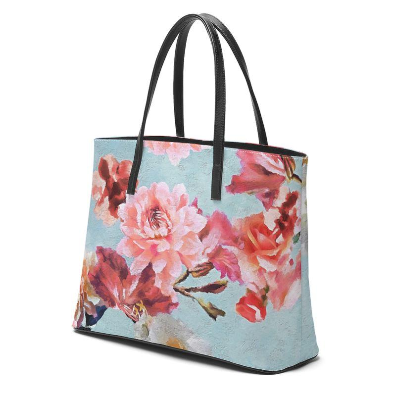 Castlefield Design Sunny Floral Leather Tote