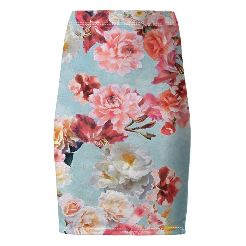 Castlefield Design Sunny Floral Pencil Skirt