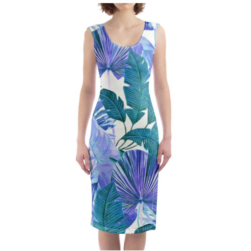 Castlefield Design Tropical Leaf Bodycon Dress