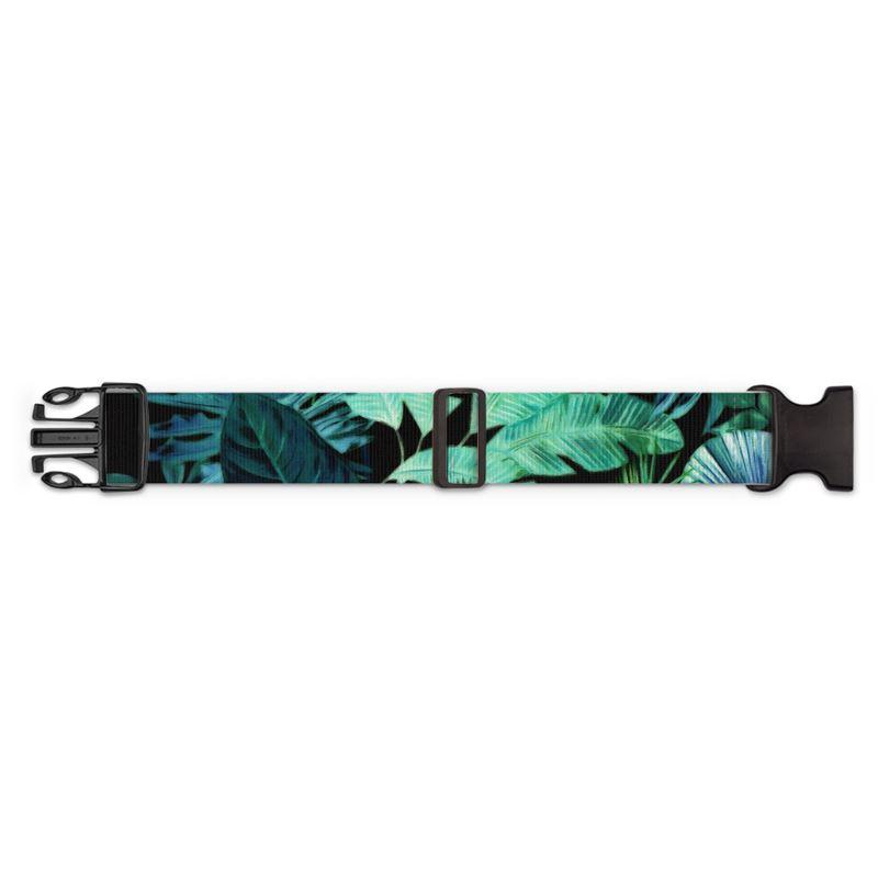 Castlefield Design Tropical Leaf Luggage Strap