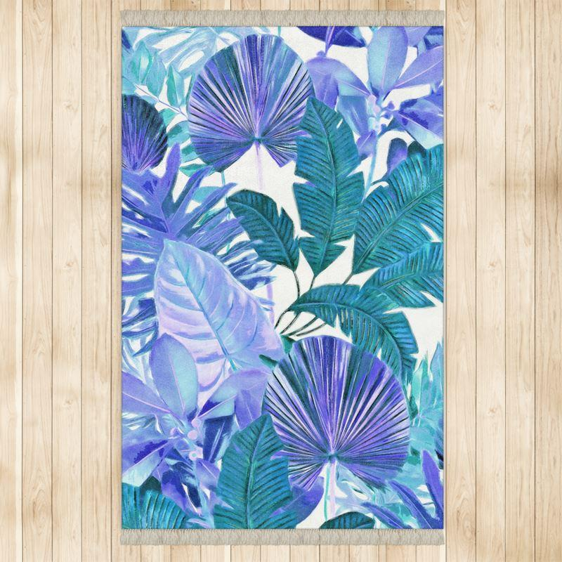 Castlefield Design Tropical Leaf Rug