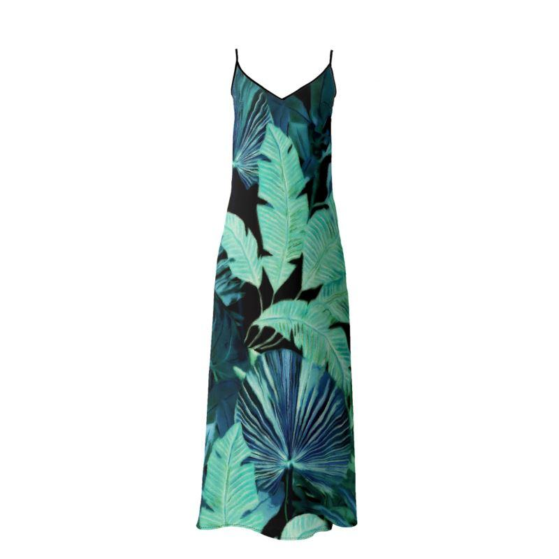 Castlefield Design Tropical Leaf Slip Dresses