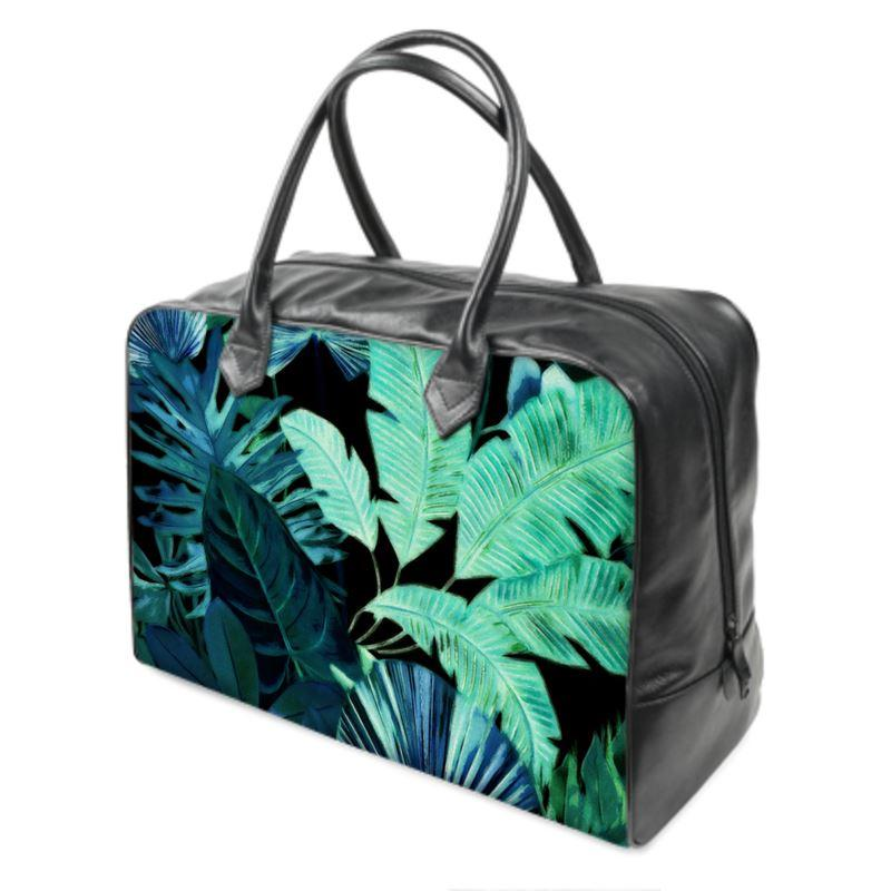 Castlefield Design Tropical Leaf Weekender Bag