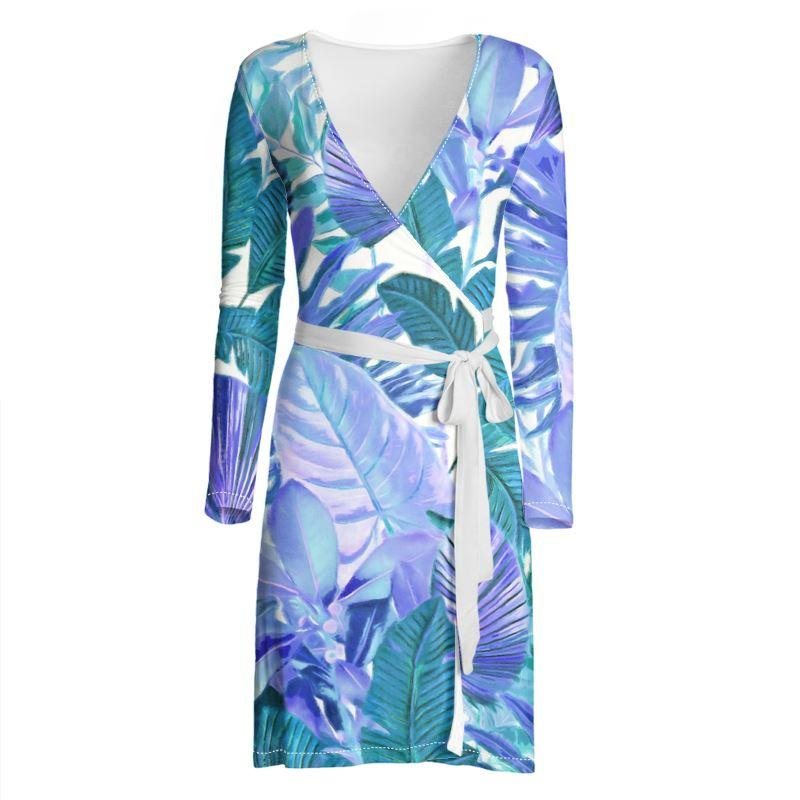 Castlefield Design Tropical Leaf Wrap Dress