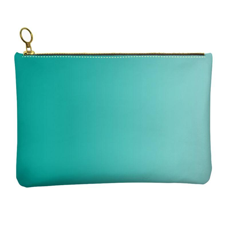 Castlefield Design Turquoise Leather Clutch