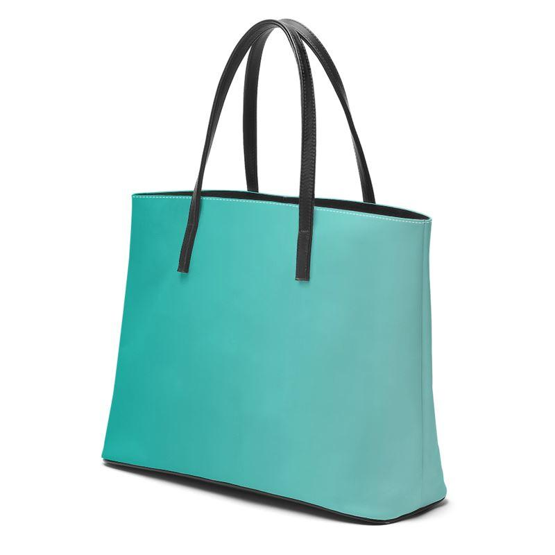 Castlefield Design Turquoise Leather Tote