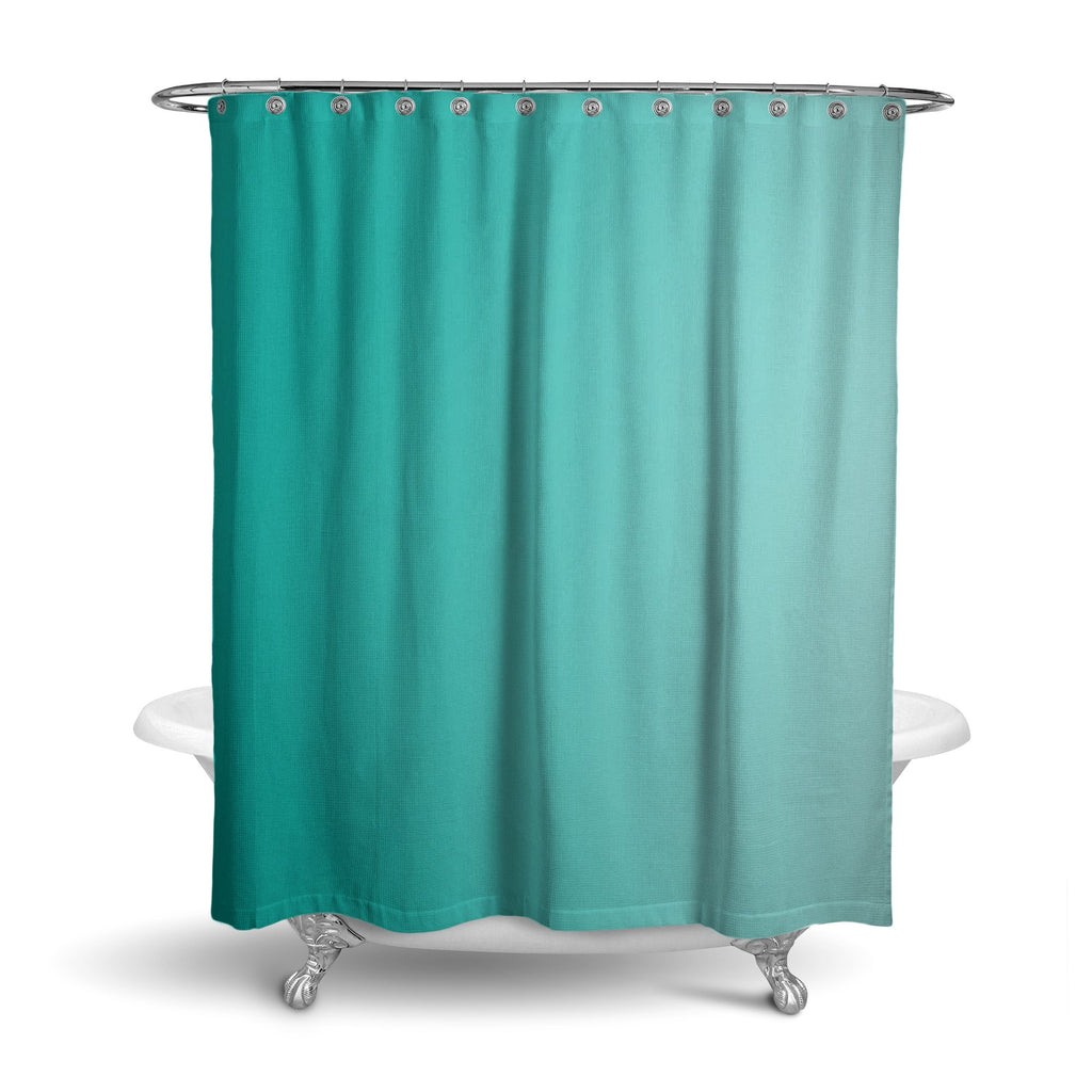 Castlefield Design Turquoise Shower Curtain