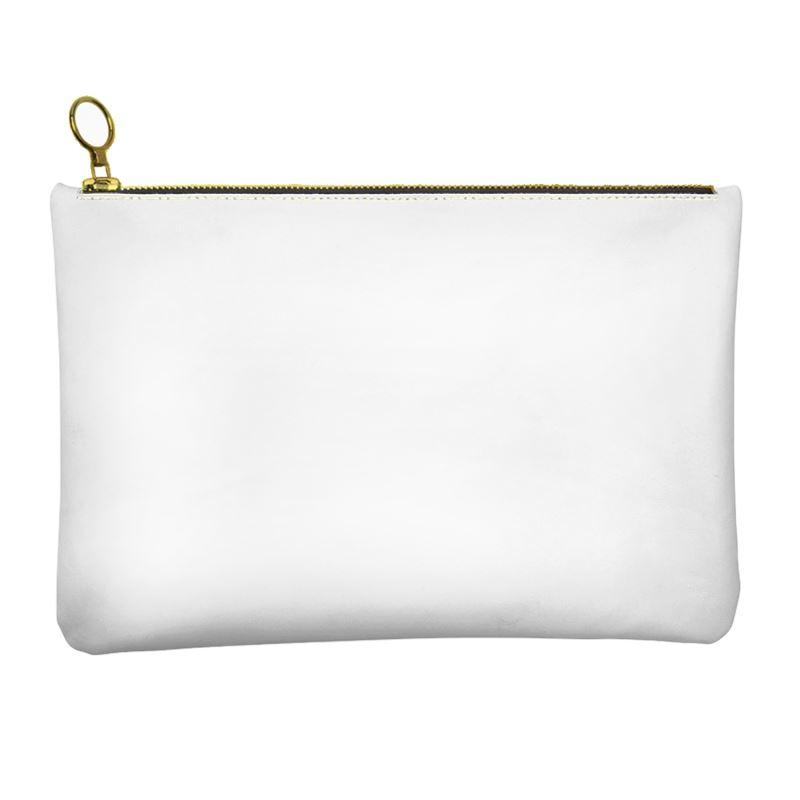 Castlefield Design White Leather Clutch