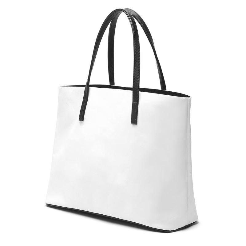 Castlefield Design White Leather Tote
