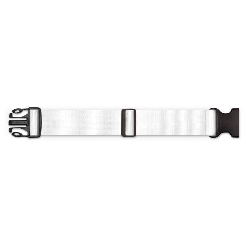 Castlefield Design White Luggage Strap