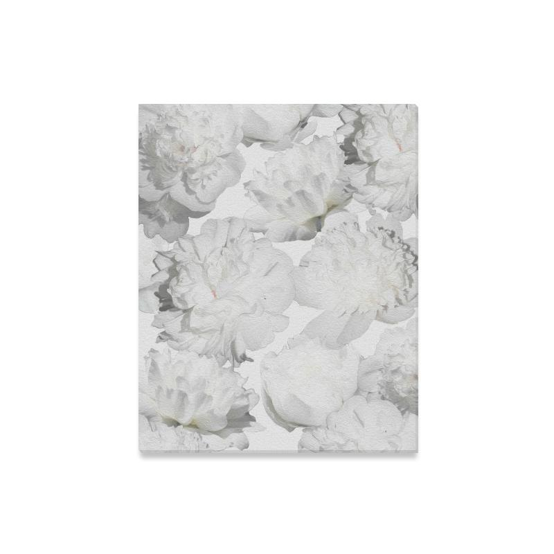 Castlefield Design White Peonies Canvas Prints