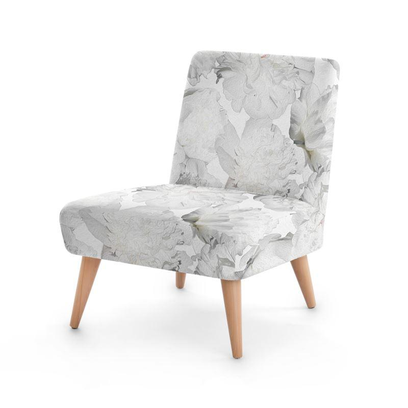 Castlefield Design White Peonies Chair