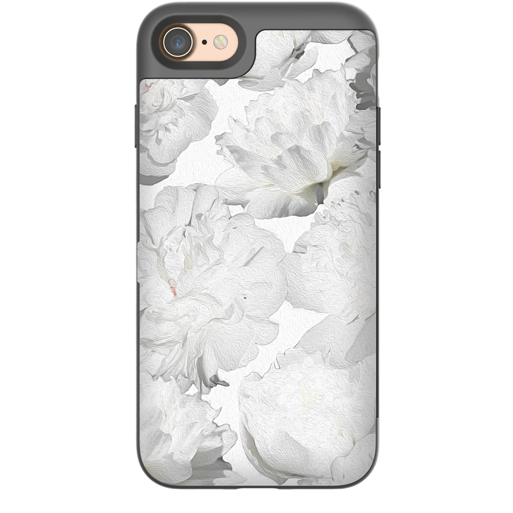 Castlefield Design White Peonies iPhone Cases