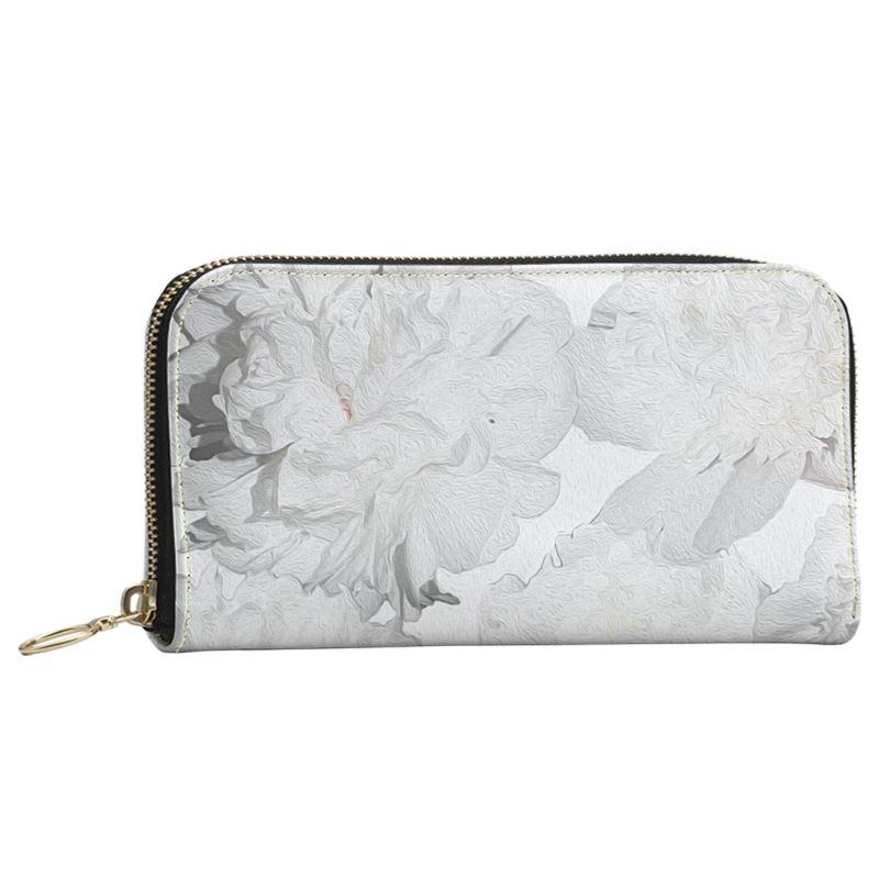 Castlefield Design White Peonies Large Wallet