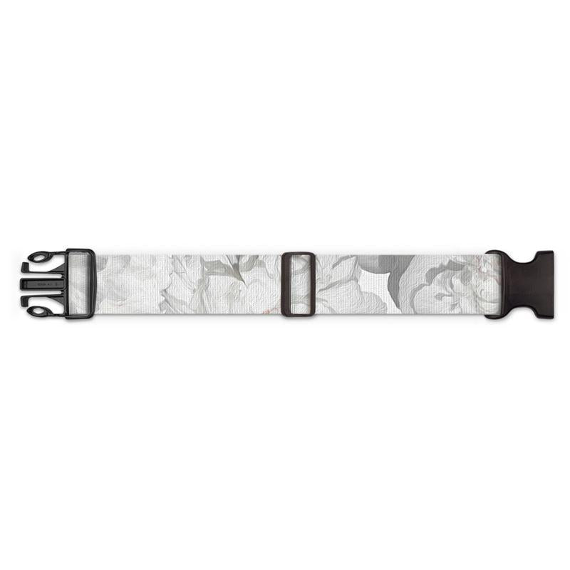Castlefield Design White Peonies Luggage Strap