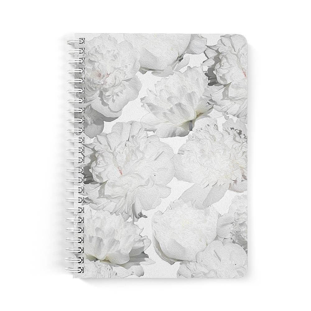 Castlefield Design White Peonies Notebooks